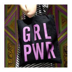 Tote bag - Mensaje GRL PWR